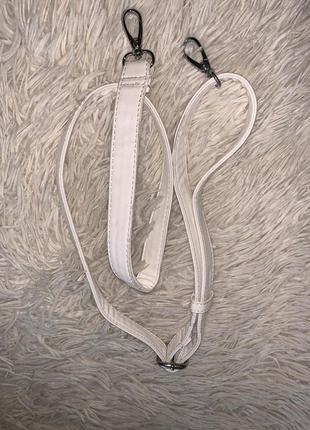 Белый ремешок для сумки новый