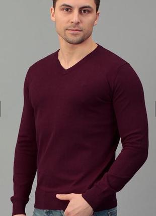 Мужская кофта бордового цвета