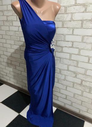 Выпускное вечернее платье цвет электрик
