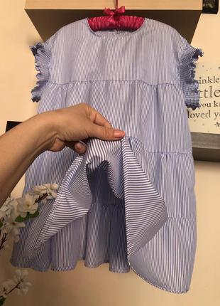 Короткое платье оверсайз, платье летнее в полоску, платье своб...