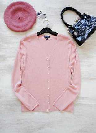 Кардиган кофта пастельно-розового (пудрового) оттенка ann tayl...