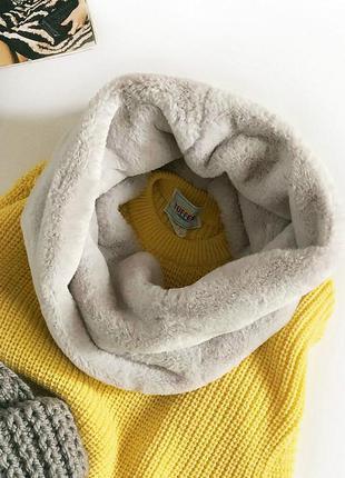Идеальный меховый плюшевый снуд primark (шарф, хомут)