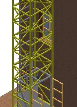 НАРУЖНЫЕ подъёмники-Лифты. ПОДЪЁМНИК снаружи здания. Лифт