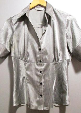 Атласная блуза с коротким рукавом, autograpf
