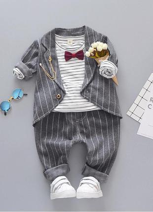 Очень стильный и нарядный костюм-тройка