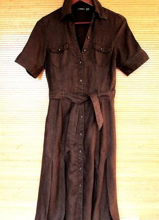 Трендовое платье-сафари из полированного льна, mexx