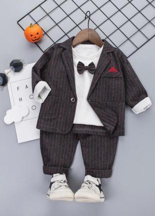 Стильный нарядный костюм-тройка