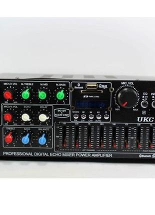Усилитель звука AV-326BT Bluetooth 2*150 вт караоке