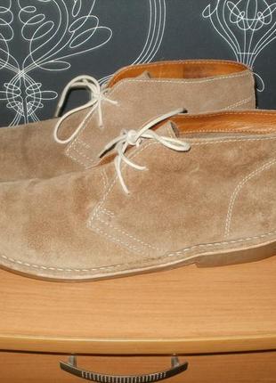 Замшевые полуботинки/туфли. 47 рр. стелька 32,5 см