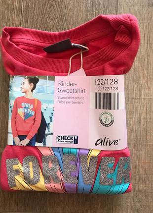 Детский свитшот для девочки. Тёплая кофта толстовка