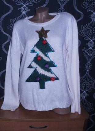 3 д свитер. новогодний.