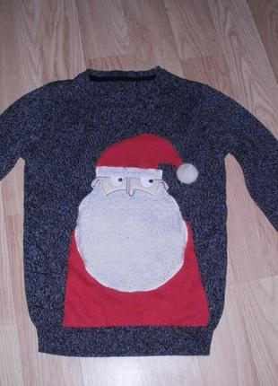 Новогодний 3д свитер 9-10 лет