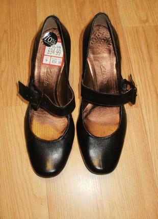 Туфли кларкс. классика. размер 7 (40,5-41) сток