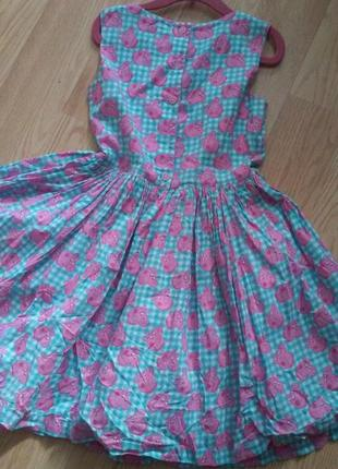 Платье сарафан коттон со свинкой пепой.  peppa pig. 5-6 лет