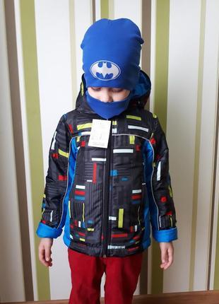 Теплая яркая демисезонная куртка для мальчика lego 98-104 двойне