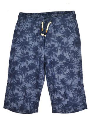 Шорти на хлопчика h&m 116см, сині з пальмами
