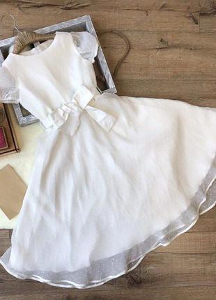 Шикарное белое платье. Выпускное платье