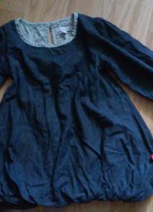 Джинсовое платье. весна/осень. внизу на резинке