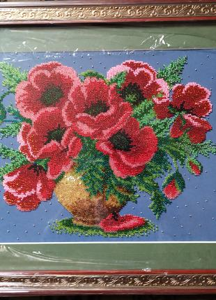 Картина вышивка чешским бисером