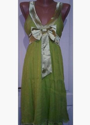 Воздушное летнее платье. от груди свободное