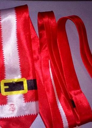 Новогодний галстук санты с мелодией и светодиодом