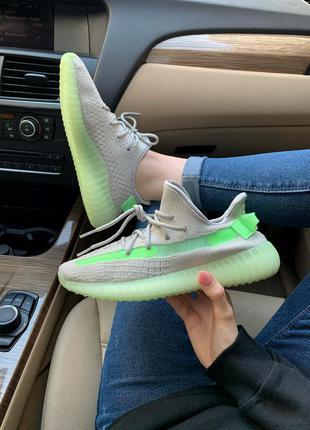 Adidas yeezy boost 350 grey/green cтильные кроссовки адидас из...