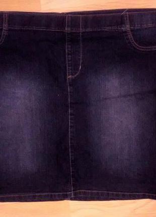 Джинсовая юбка батал. пот 55