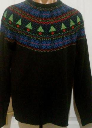 Новогодний мужской свитер нью лук
