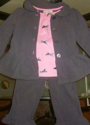 Теплый костюм-тройка little lass(сша) на 2-3 года