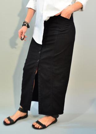3063\120 юбка на пуговицах из денима monki m