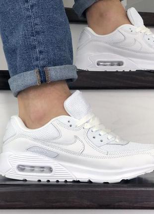 Nike air max 90 мужские кроссовки найк белые