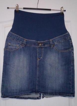Джинсовая юбка для беременной. happy mum