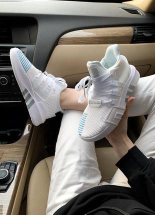 Adidas equipment bask adv white женские кроссовки адидас белые