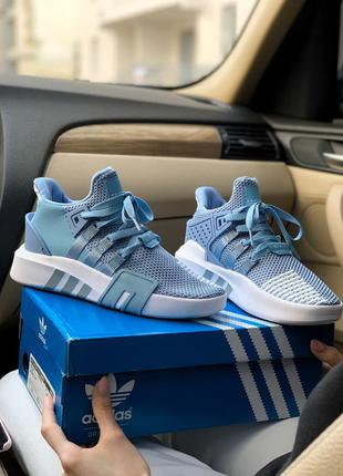 Adidas equipment bask adv blue женские кроссовки