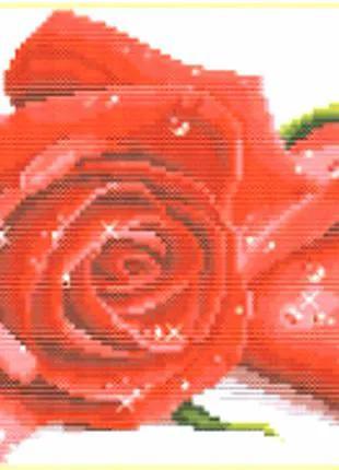 Набор для вышивки крестом Красная роза 33* 20 см