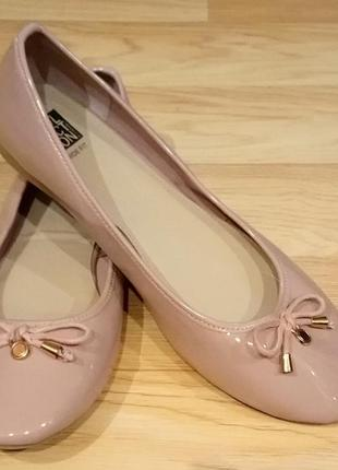 Пудровые балетки на стопу 26,5см
