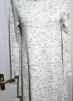 Zara girls. теплое меланжевое платье от зары. 13-14 лет