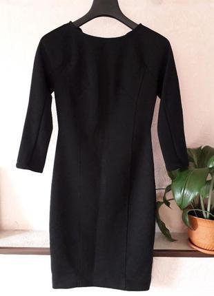 Женское черное платье миди zara футляр бандажное повседневное ...