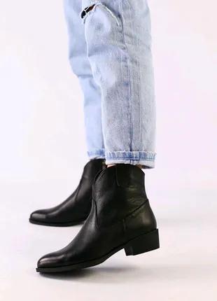 Женские демисезоные натуральные кожанные ботинки ботильоны казаки