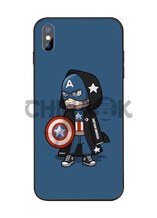 Чехол Marvel Captain America для iPhone XS MAX
