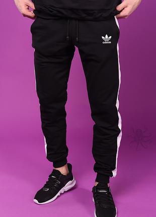 Мужские спортивные штаны с лампасами Adidas, спортивки Адидас