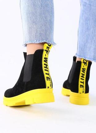 Зимние женские ботинки челси
