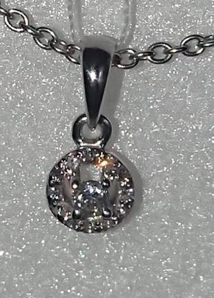 Бриллиантовый кулон подвеска белое золото 585 бриллианты видео