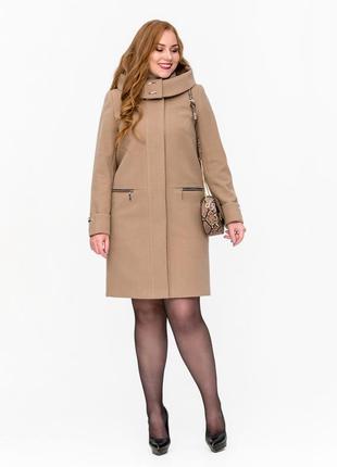Скидка! женское демисезонное кашемировое пальто с капюшоном бо...