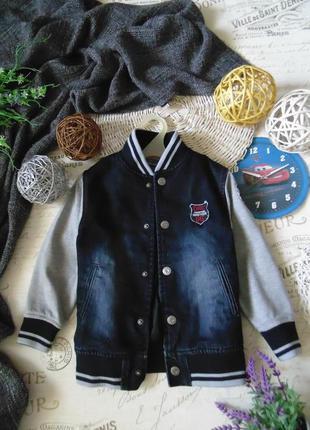 Модная джинсовая куртка бомпер orchestra