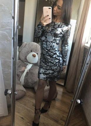 Платье в пайетки. зара. шик!