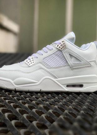 Шикарные кроссовки 🍒air jordan 4 full white 🍒