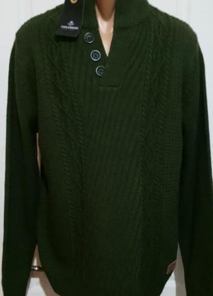 Темно зеленый джемпер. с бирками