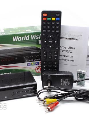 World Vision Foros UltraT2,S2,DVB-C,LAN,IPTV,Megogo,Гарантия