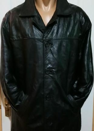 Кожаная куртка с утеплителем